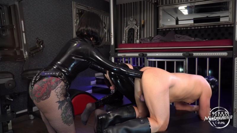 2 Anal Fisting Slaves - Miss Patricia. Kinkymistresses.com (172 Mb)