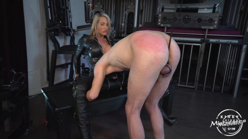 CBT And Leather Worship - Calea Toxic. Kinkymistresses.com (344 Mb)