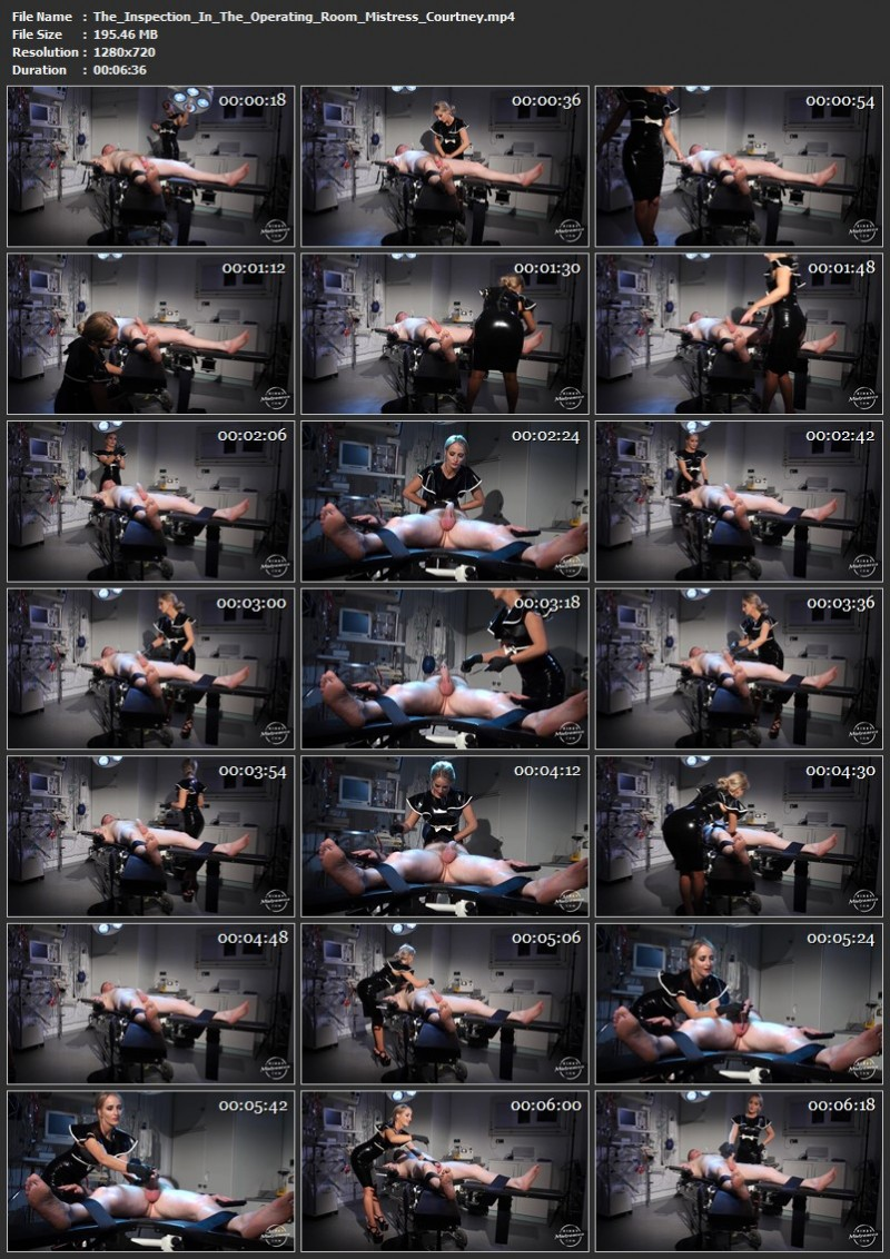 The Inspection In The Operating Room - Mistress Courtney. Kinkymistresses.com (195 Mb)