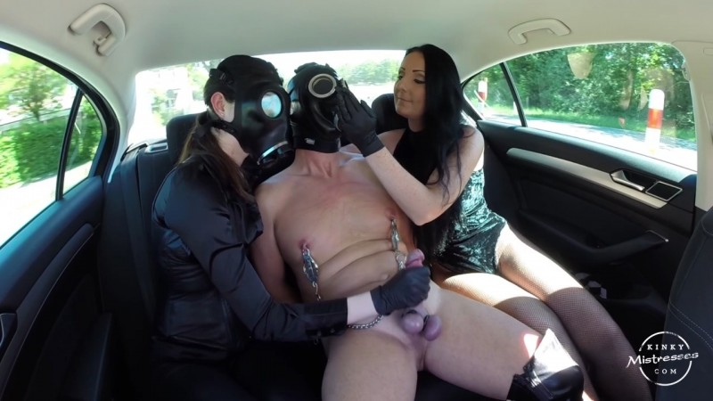 Kinky CBT Fun In The Car - Lady Luciana, Fetish Narzisse. Kinkymistresses.com (310 Mb)