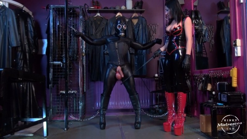 The Fetish Slave With Big Balls - Mistress Anita Divina. Kinkymistresses.com (207 Mb)
