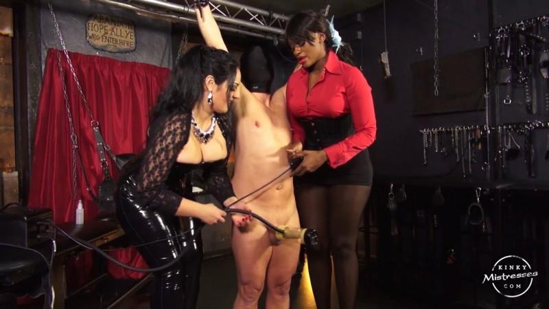 The Milking Machine - Used By 2 Ladies - Mistress Ava Black, Ezada Sinn. Kinkymistresses.com (299 Mb)