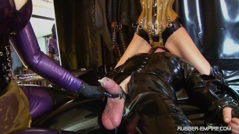 Lady Blackdiamoond & Bizarr Lady Alice - Condom Slut. 2019-01-24. Rubber-empire.com (342 Mb)