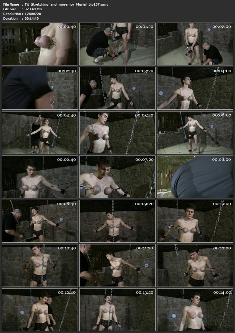 Tit Stretching and more for Muriel (bip157). Nov 09 2019. Breastsinpain.com (323 Mb)