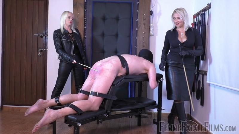 Double Caning - Mistress Heather, Mistress Johanna. 4th Apr 2020. Femmefatalefilms.com (382 Mb)
