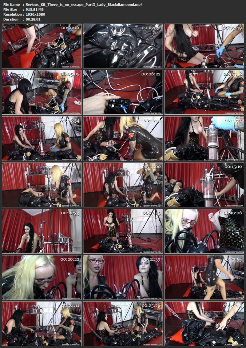Serious Kit - There is no escape Part3 - Lady Blackdiamoond. 2020-02-07. Rubber-empire.com (915 Mb)