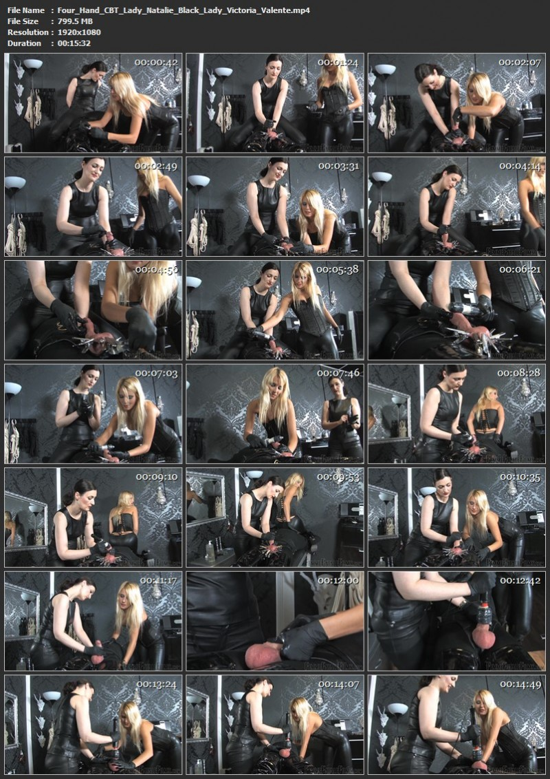 Four Hand CBT - Lady Natalie Black, Lady Victoria Valente. 24th Nov 2020. Femmefatalefilms.com (799 Mb)