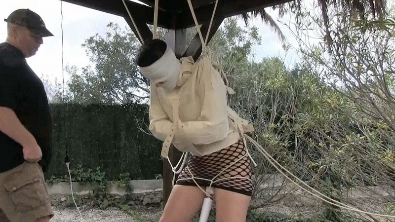Outdoor with straitjacket. Yvette-Xtreme.com (859 Mb)