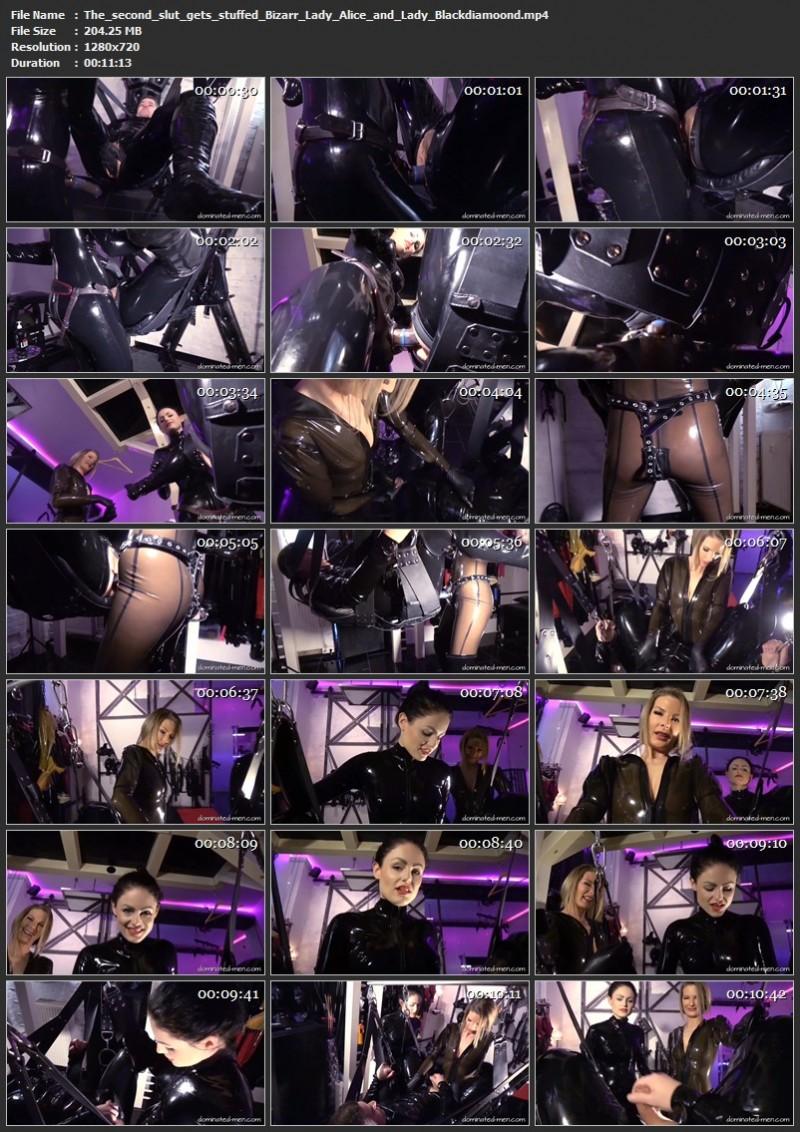 The second slut gets stuffed - Bizarr Lady Alice and Lady Blackdiamoond. 2020-09-01. Dominated-men.com (204 Mb)