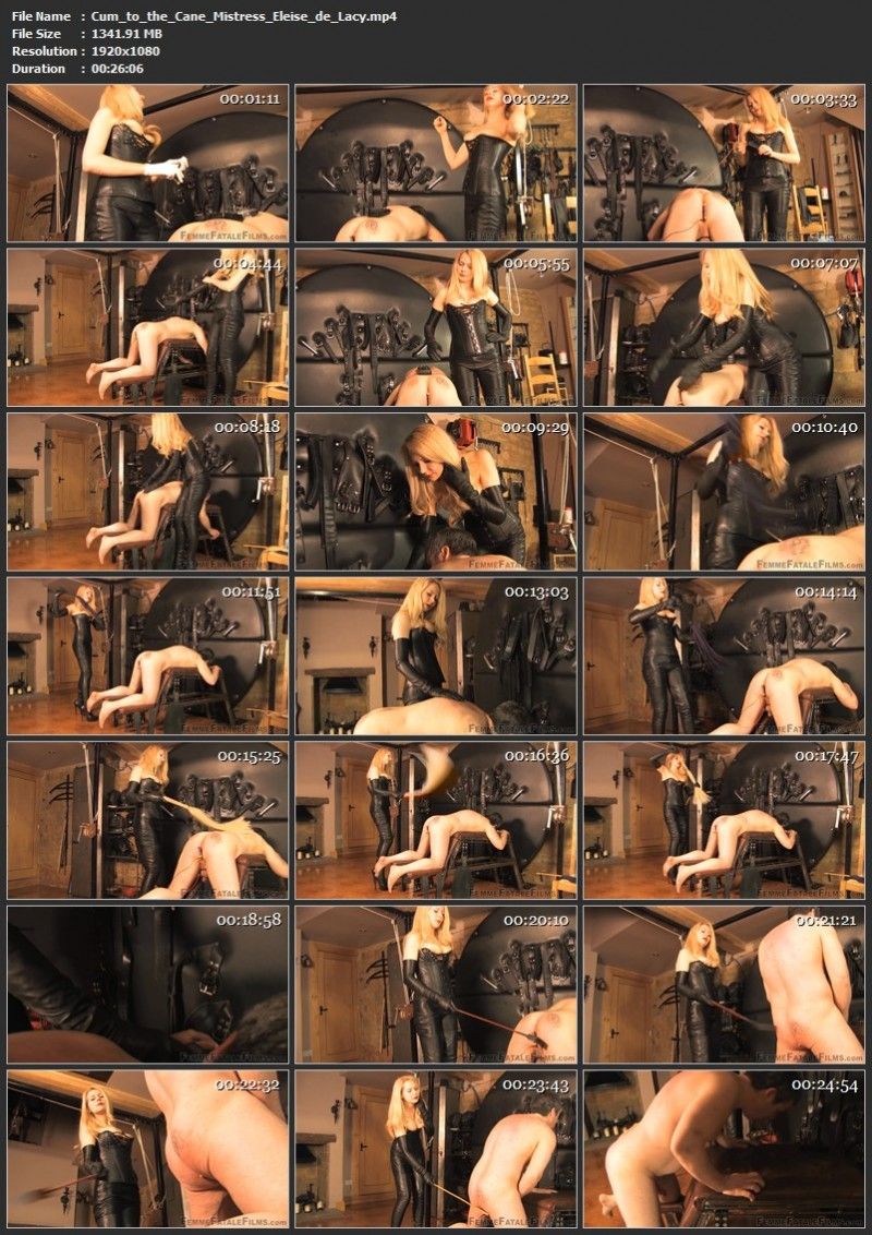 Cum to the Cane - Mistress Eleise de Lacy. 24th Apr 2021. Femmefatalefilms.com (1341 Mb)
