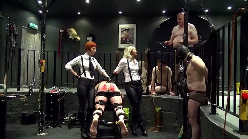 Seeing Double Caning Punishment - Mistress Athena & Domina Liza. Dominity.com (822 Mb)