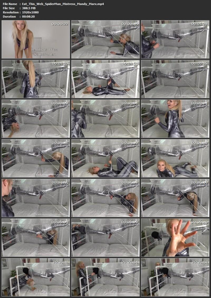 Eat This Web Spider-Man - Mistress Mandy Marx. 24.07.2021. TeaseAndThankYou.com (388 Mb)