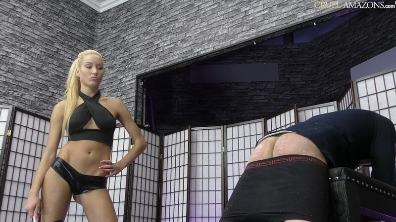 Slave Breaks The Canes - Mistress Ariel. 19.05.2021. CruelAmazons.com (502 Mb)