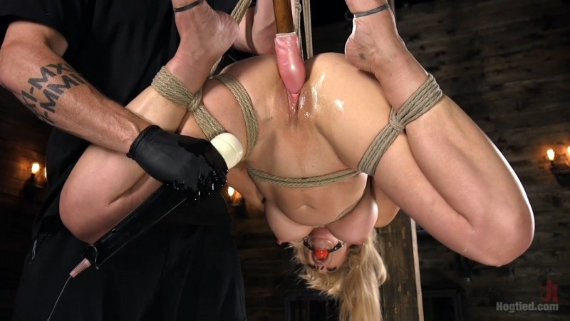 Buff MILF Cherie Deville Submits To Rope Bondage And Unwilling Orgasms. Hogtied.com (1906 Mb)